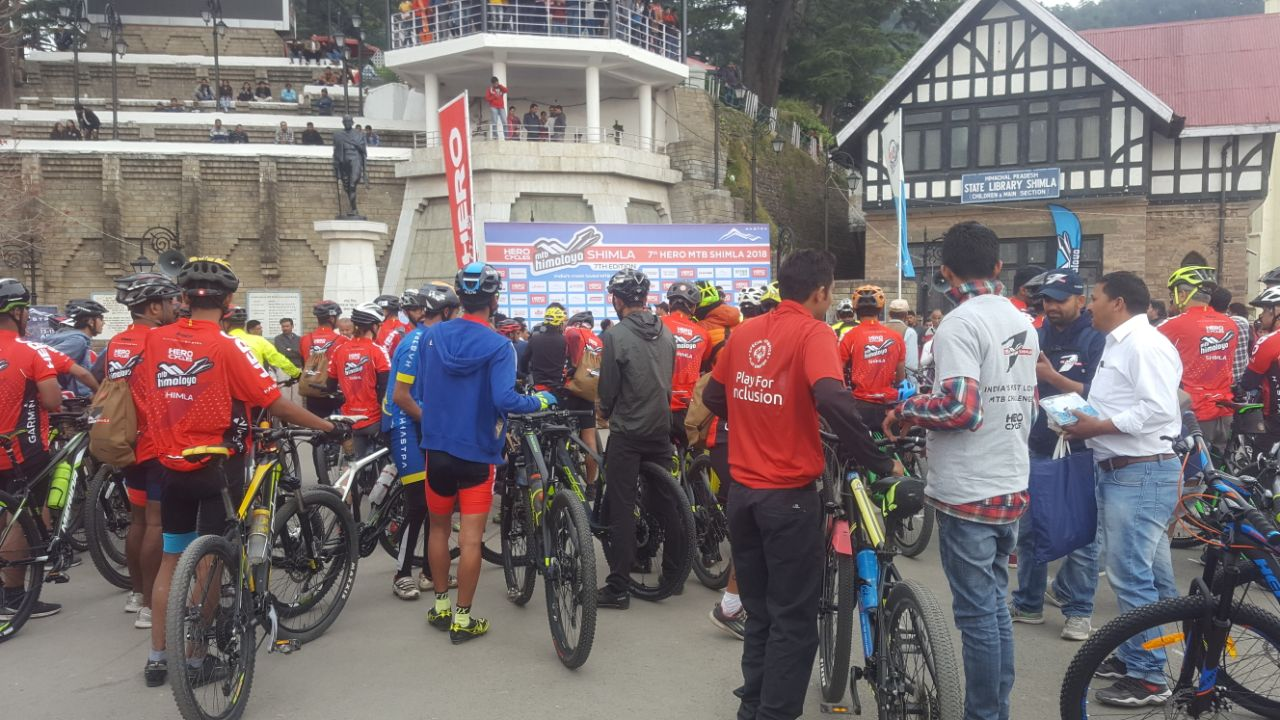Mountain bikers from more than seven countries and 23 cities across India will participate in the two-day race which will see them cover a distance of 106 kilometers.