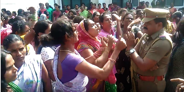 Demonstration by transgender people. Credit: You Tube/ Sathish Inayav