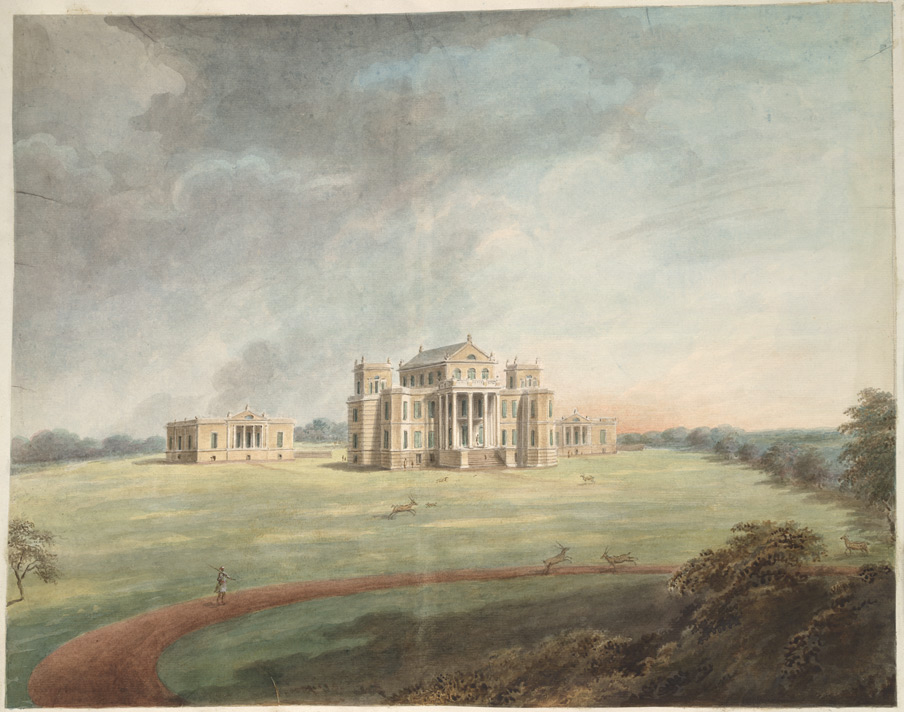'The Nawab Vizier's country retreat at Dilkusha within a deer park' by Sita Ram, 1814. Photo credit: British Library, Add Or 4763  Noc