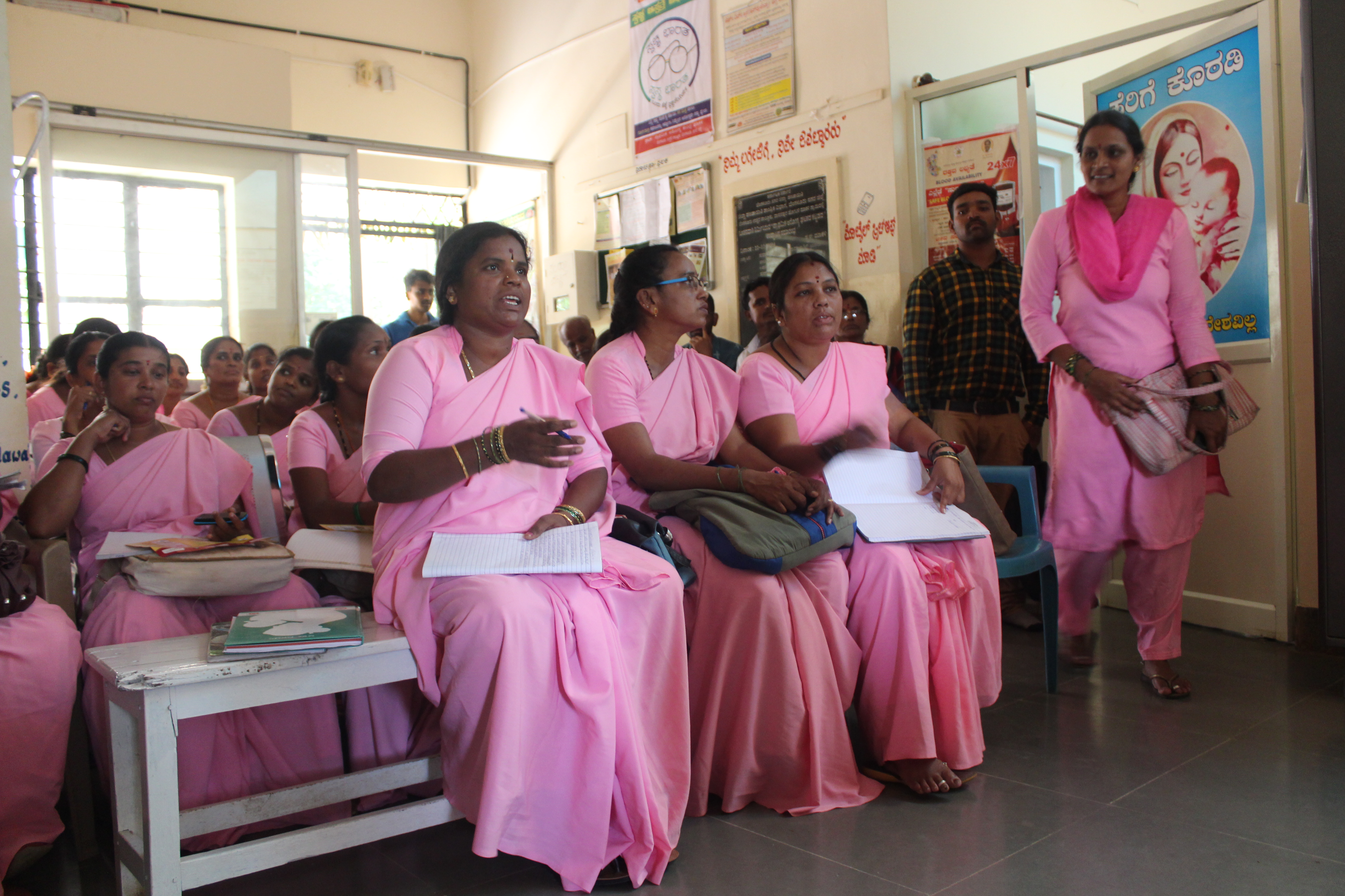Accredited Social Health Activists being trained on how to counsel women seeking abortion at Madanayakana Halli PHC on the outskirts of Bengaluru. Photo: Jyotsna Singh