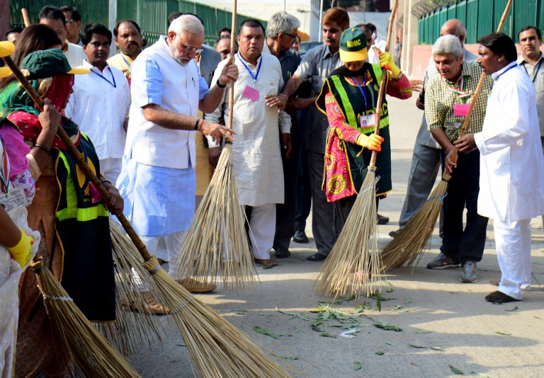 The government has not released evaluations of its flagship Swachh Bharat programme. (Credit: AFP)