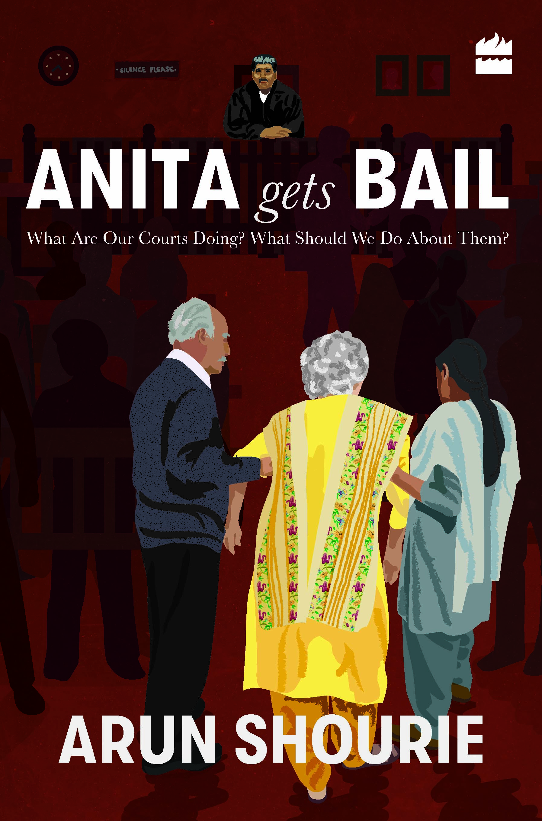 The cover of the book has a most moving drawing of Anita Shourie, the very image of human dignity,  being helped into a courtroom by Arun Shourie and a helpful lady, perhaps Anita's nursing assistant. The picture says it all: Trust,  persevere in truth. The artist Sanchita Jain has painted a masterpiece.
