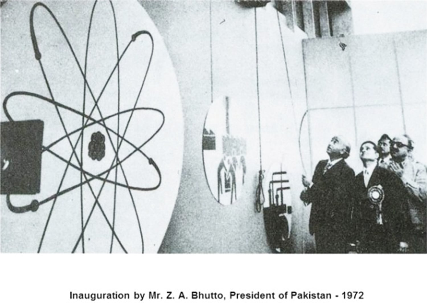 Bhutto inaugurates Pakistan's first nuclear-power plant in Karachi in 1972. Bhutto accelerated Pakistan's nuclear program in 1974 after India tested its first nuclear device. By the 1980s, Pakistan had developed its own nuclear device which it tested a decade later in 1998.