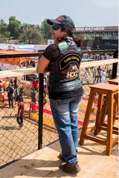 Seema Nevatia, who is part of the Harley Davidson Dubai Chapter. Credit: Nupur D'Souza