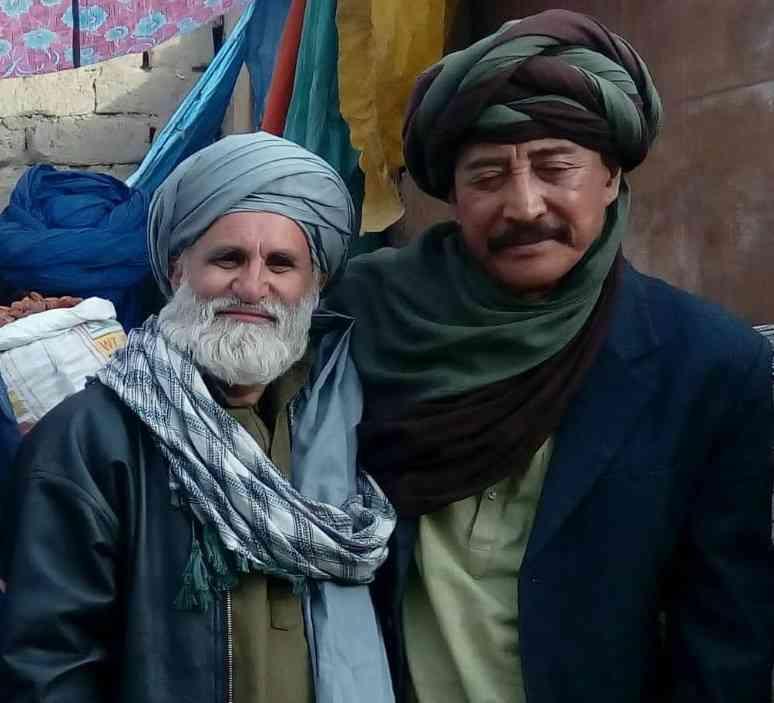 Bhawani Bashir Yasir and Danny Denzongpa on the sets of Bioscopewala. Courtesy Sunil Doshi.