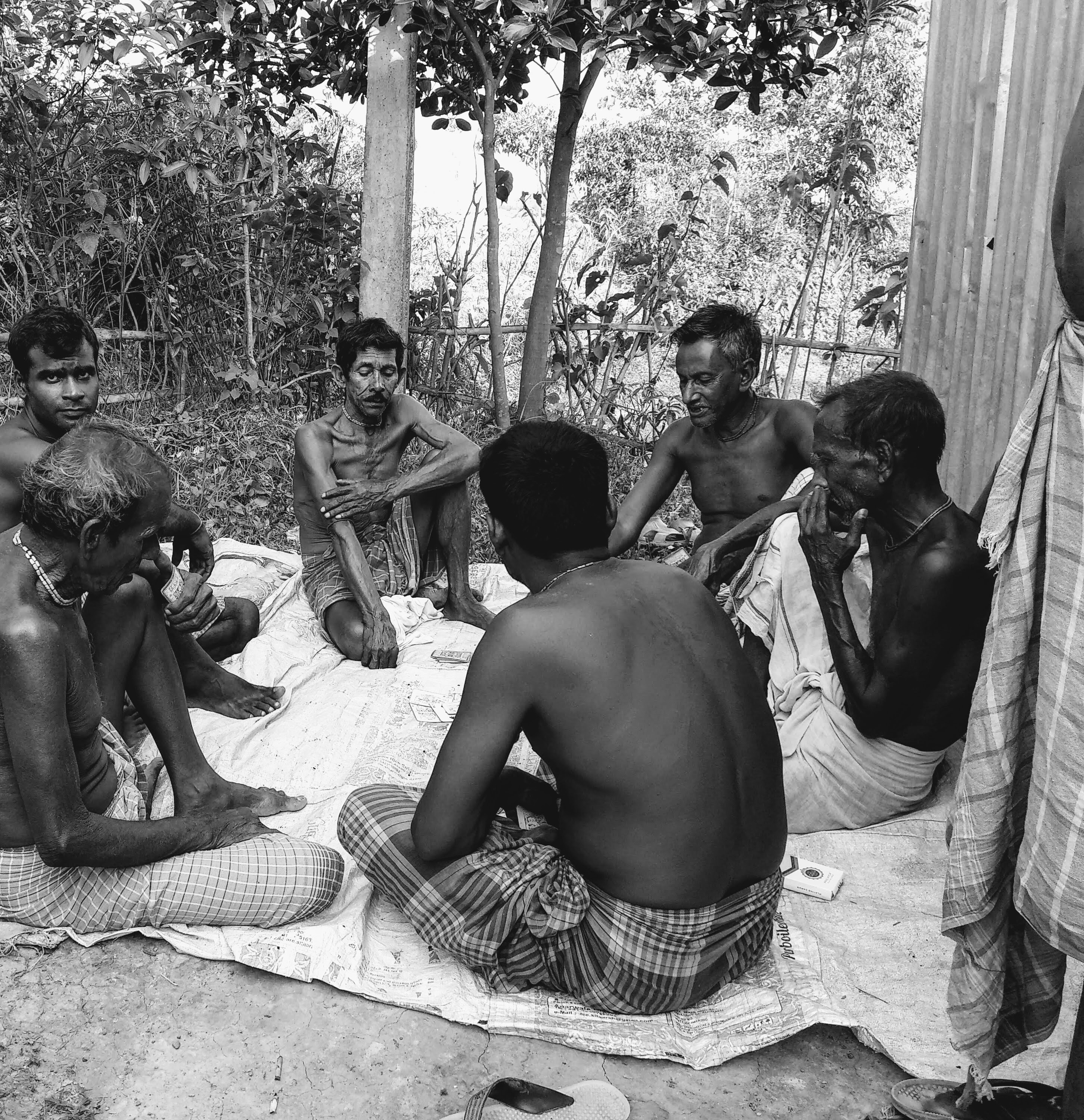 Men who claim to have come to Assam to escape religious persecution, somewhere in Assam's Cachar district.