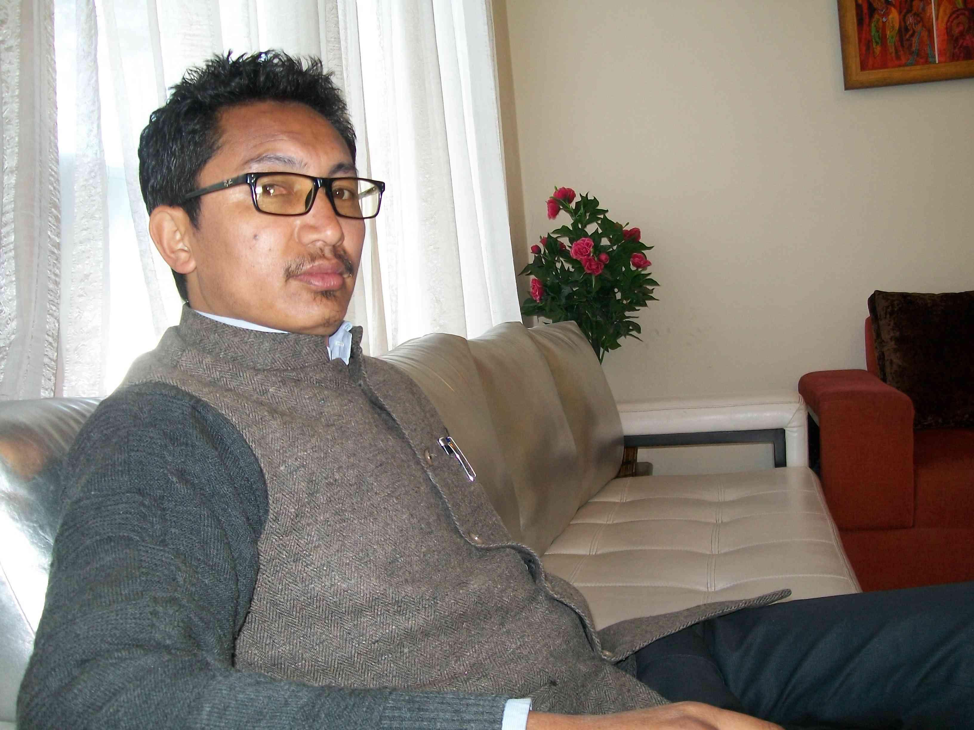 The BJP candidate, 33-year-old Jamyang Tsering Namgyal.