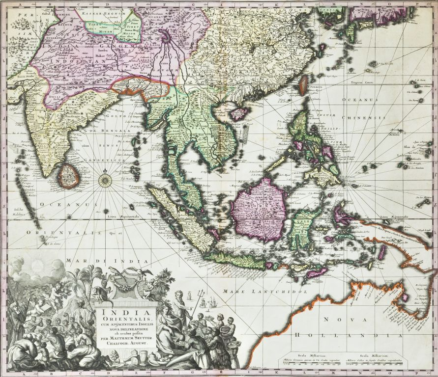 Matthaus Seutter's map of the East Indies and part of Australia, 1730. Image courtesy: Anubhav Nath