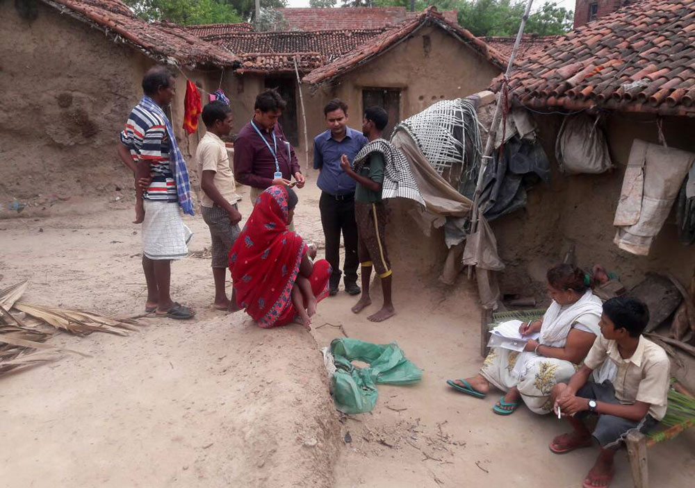 WHO officials conducting a surveillance on the sudden rise in number of kala azar cases in Kosra village, Bihar