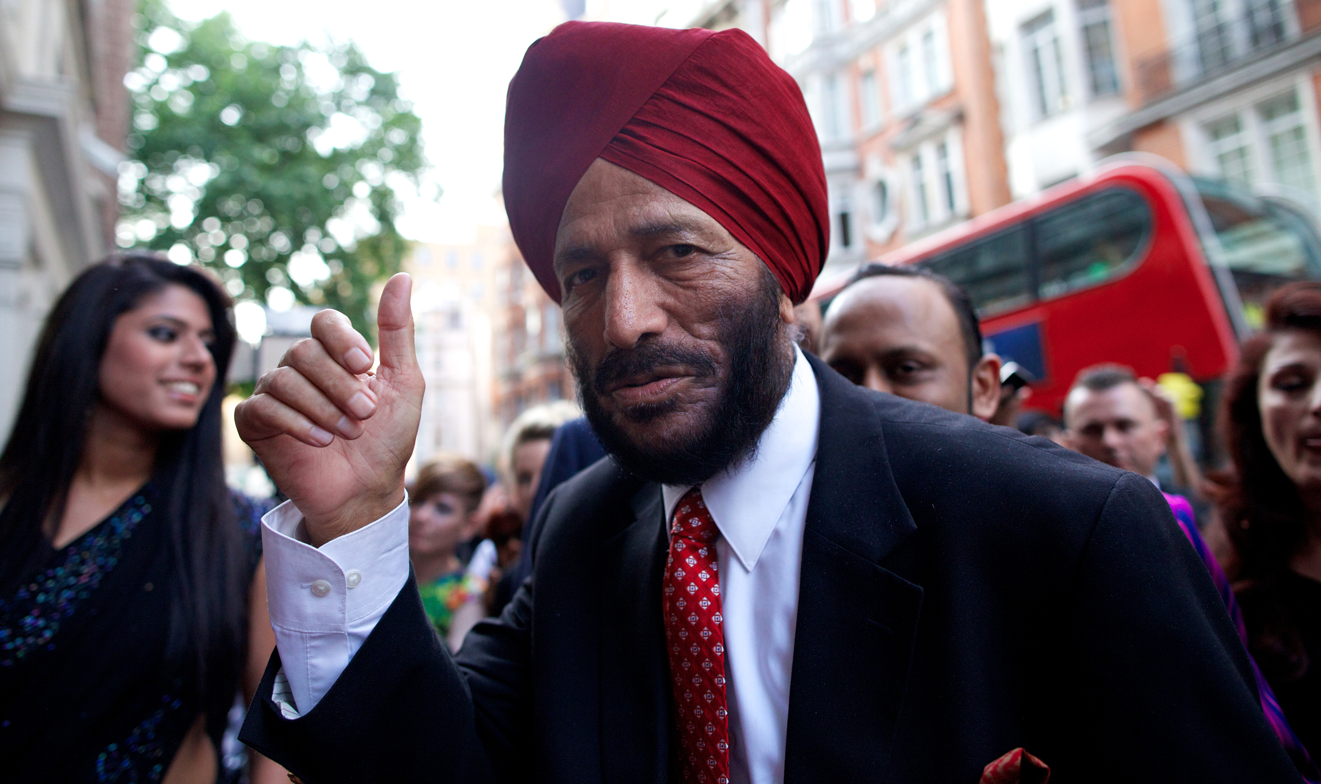 Milkha Singh. Image Credit: ANDREW COWIE / AFP