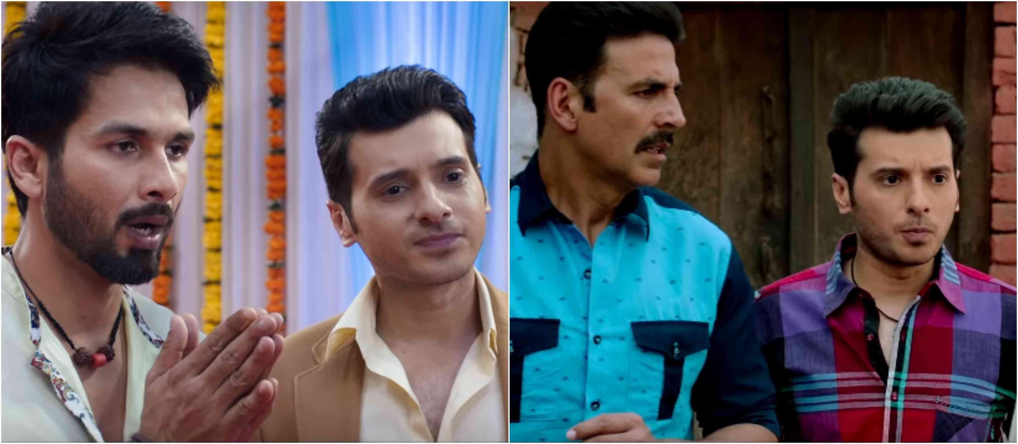Divyenndu in Batti Gul Meter Chalu (left) and Toilet: Ek Prem Katha. Courtesy Viacom18 Motion Pictures/T-Series Films.