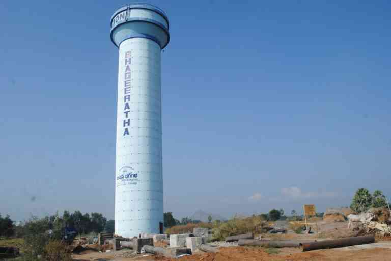 One of the water tanks built as part of Mission Bhagiratha. Photo Credit: Meena Menon