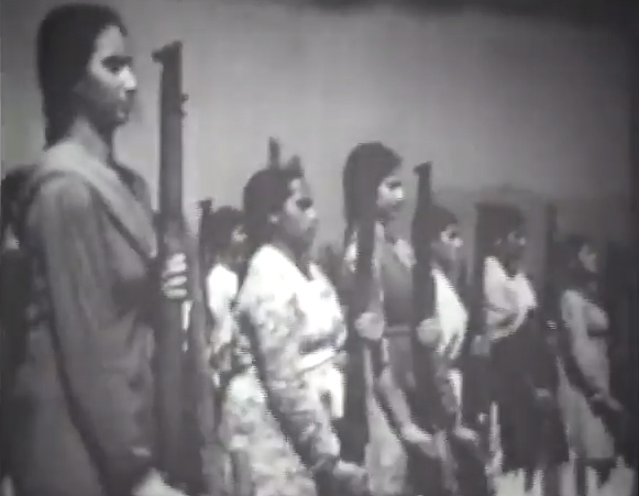 The women's militia. Credit: Youtube/Indian Diplomacy