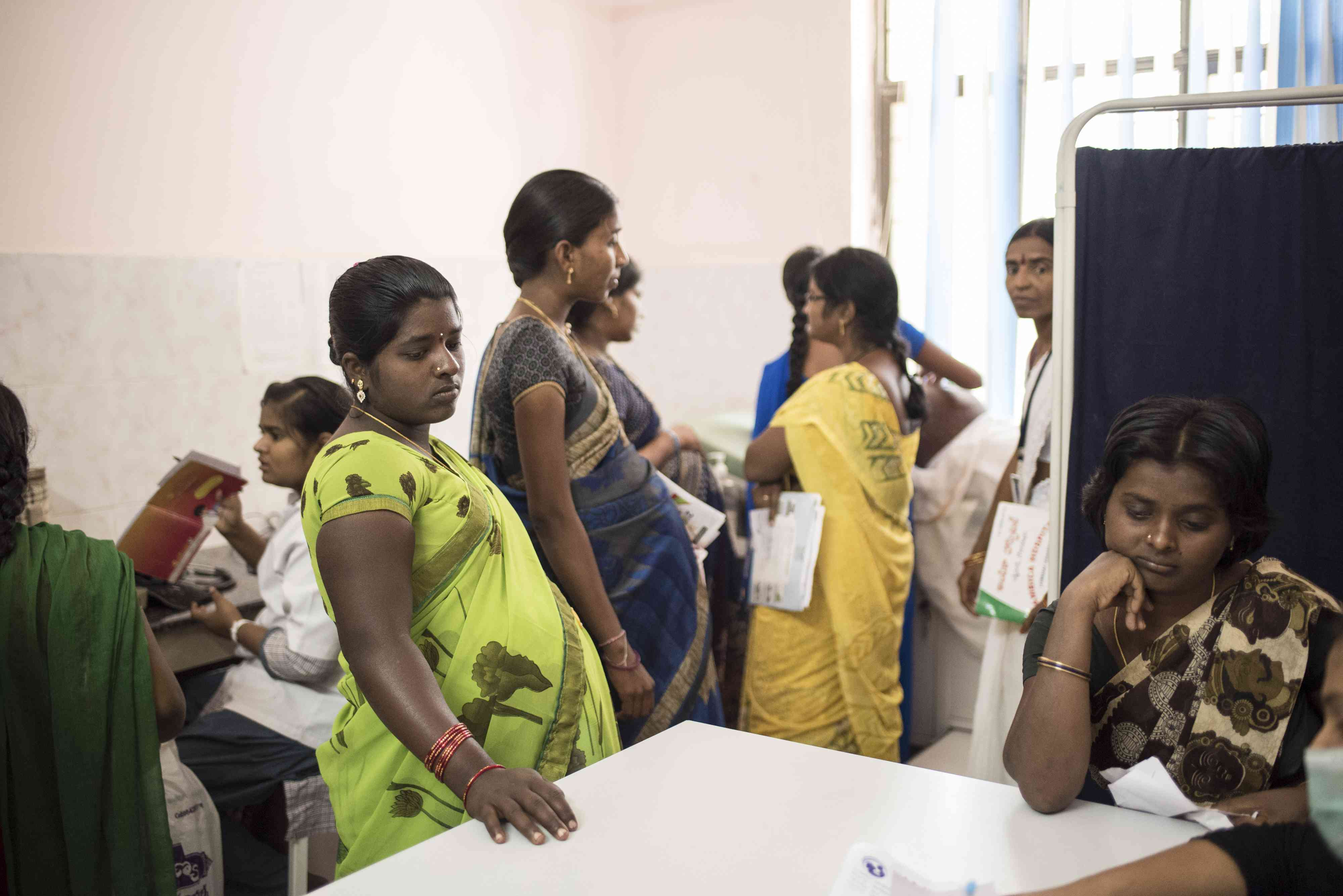 Women at the Mother and Child Health Centre in Karimnagar. (Photo: Saumya Khandelwal)
