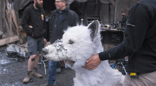 A model of the direwolf Ghost. Courtesy HBO.