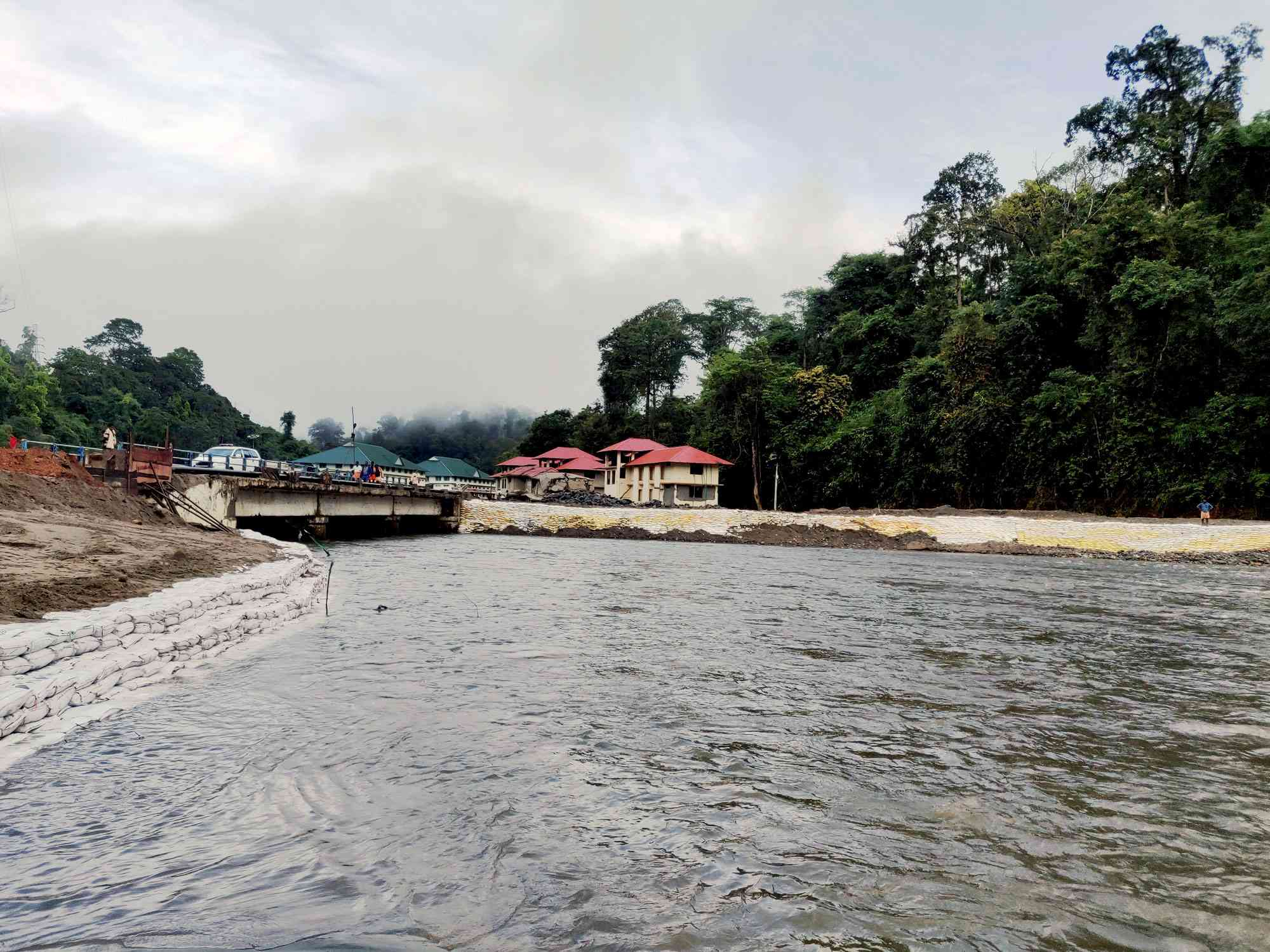 Sewage from overflow tanks contaminates the Pamba river, especially during the peak pilgrim season. Photo credit: TA Ameerudheen