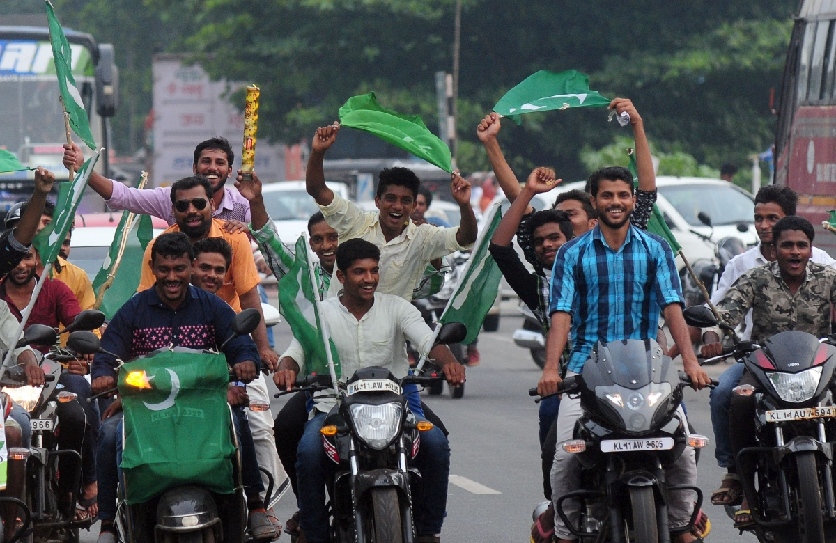 A file photo of Muslim League supporters celebrating their candidate's win in local body elections in Kerala. (Photo credit: TA Ameerudheen).