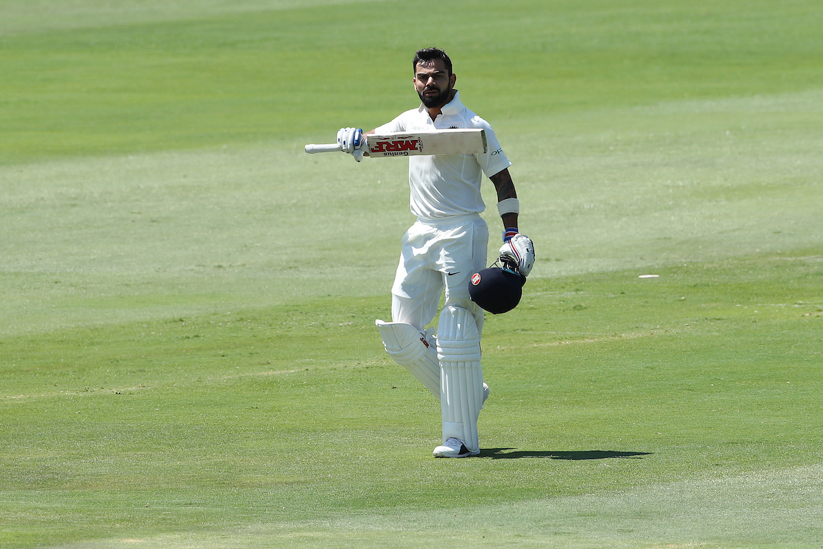 Virat Kohli top-scored for India in the first innings with 153 out of the team's total of 307 (Image: Ron Gaunt/BCCI)