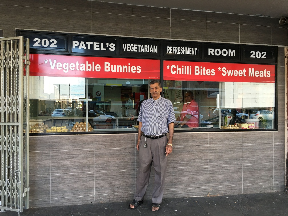 Manilal Patel, who runs the Patel Vegetarian Refreshment Room. Credit: Priyanka Vora