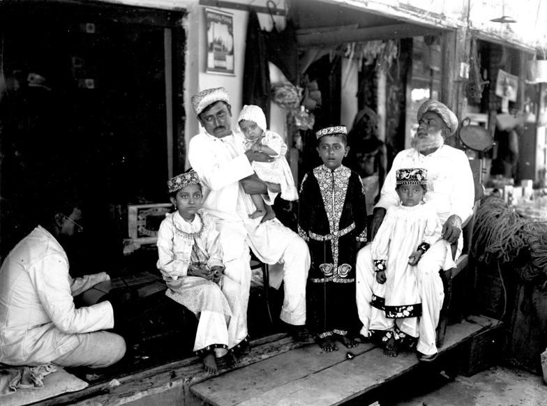 An Indian trader's family in Bagamoyo, German East Africa, around 1906. Photo credit: Wikipedia