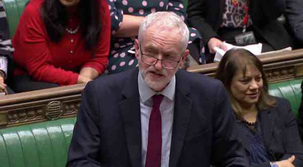Britain's opposition Labour Party leader Jeremy Corbyn in Parliament on March 14, 2019. Corbyn called for the Brexit referendum in 2016 – expecting it to fail. Photo Credit: Reuters TV via Reuters