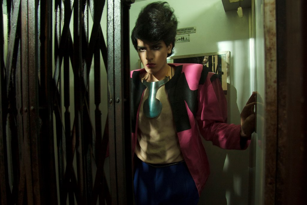 Stylist Nikhil Dudani models a 'Christian aunty' blazer for his blog series Mr Blouse. Courtesy: Nikhil Dudani.
