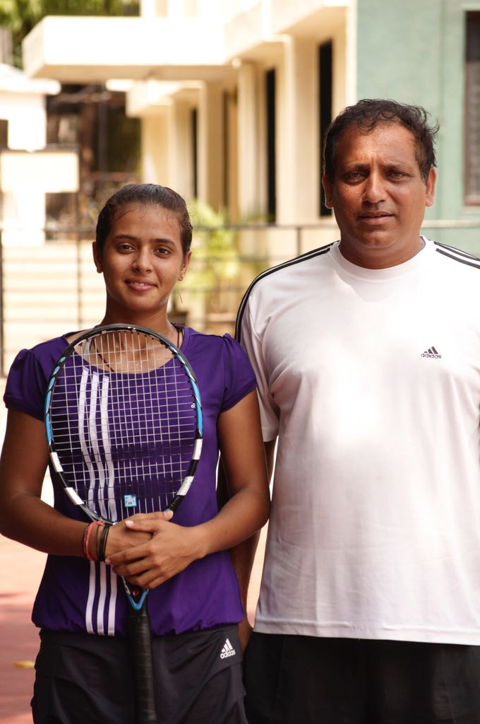 File photo of Raina with Hemant Bendre, her coach at the PYC Gymkhana in Pune. Image Credit: Ankita Raina