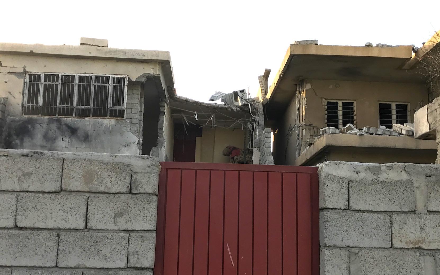 Khalil's damaged house in Al-Habda neighbourhood in east Mosul.
