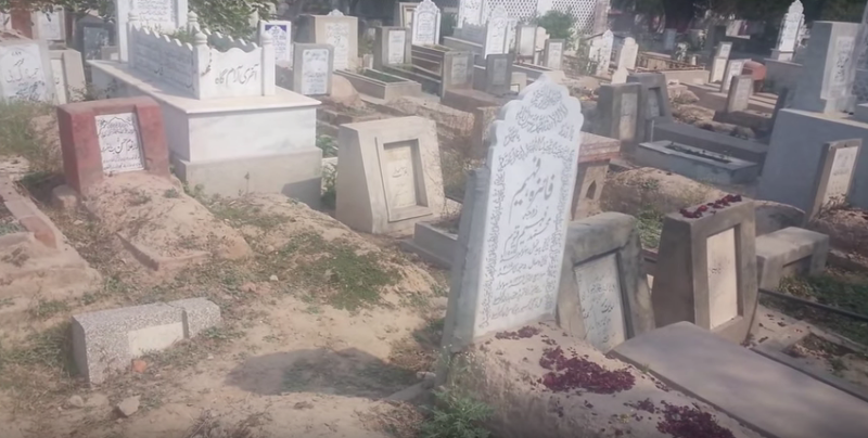 Graves at the Miani Sahib graveyard in Lahore. (Photo: YouTube grab).