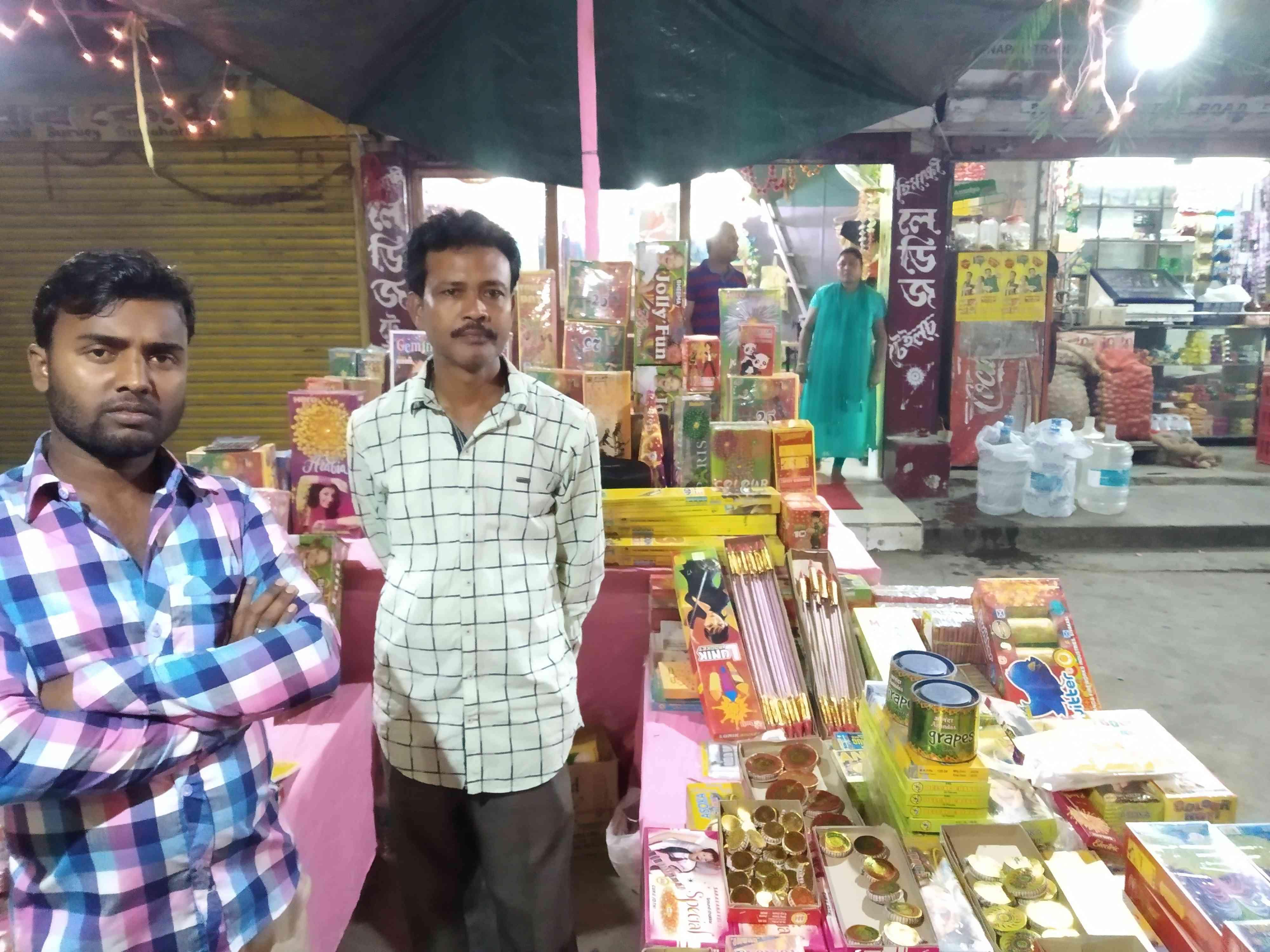 Sales were down at Kandarpa Das' shop in Guwahati on Wednesday. (Photo credit: Arunabh Saikia).