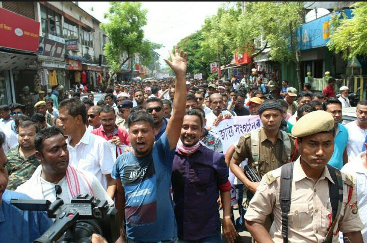 The Nagaon assault triggered well-attended protest rallies across Assam. Photo credit: Chinku Saikia