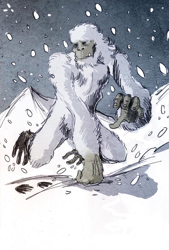 Illustration of a Yeti by Philippe Semeria. Photo credit: Philippe Semeria/Wikimedia Commons [Licensed under CC BY 3.0]