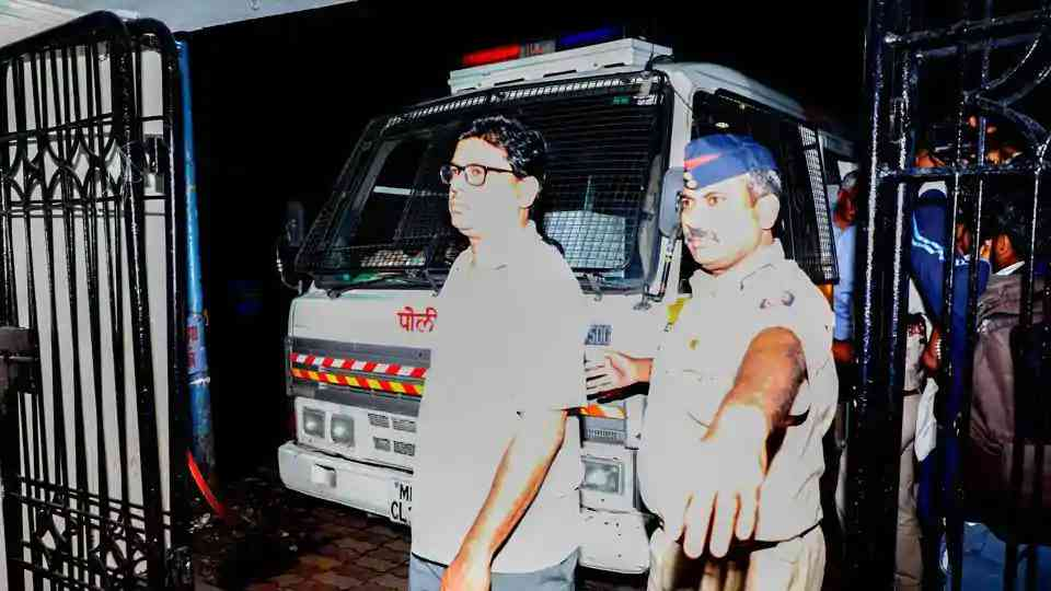 Arun Ferreira being taken to the Faraskhana Police station in Pune last month.