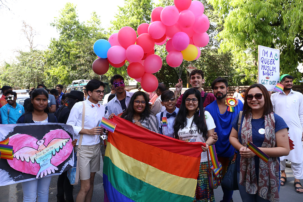 The first Awadh Queer Pride Parade in Lucknow on Sunday.