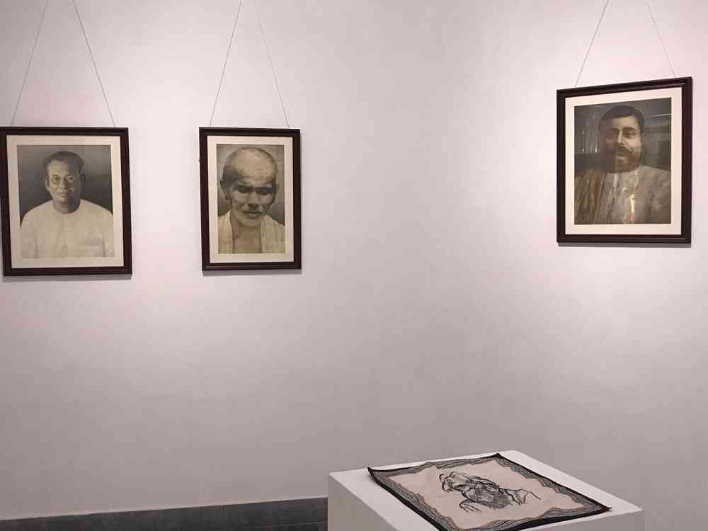 A gallery view of the exhibition 'The Sweet Shop Owners of Calcutta and Other Ideas'. Photo courtesy: Amit Chaudhuri.