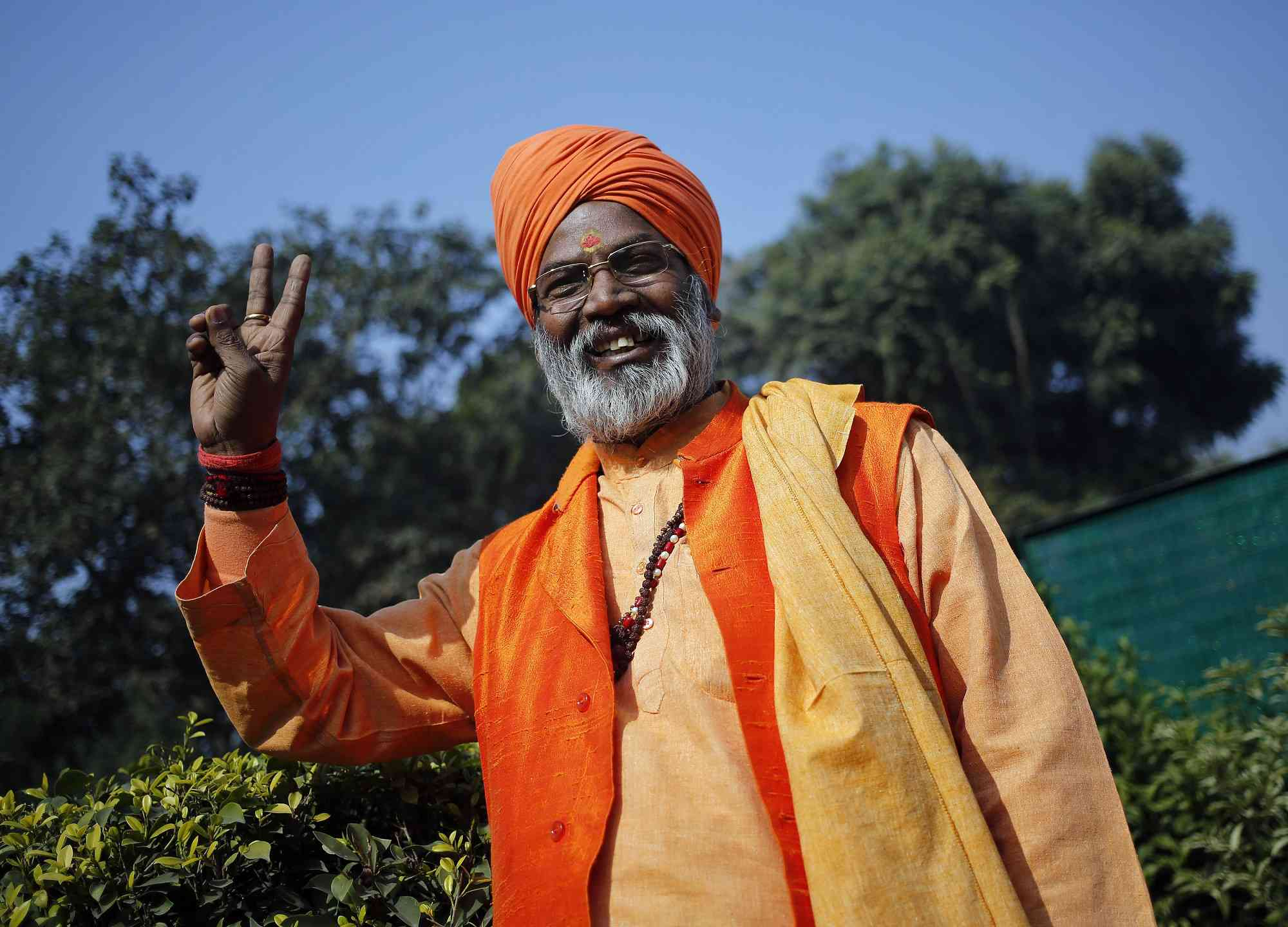 Sakshi Maharaj faces 34 criminal cases, including of murder. Photo credit: Reuters