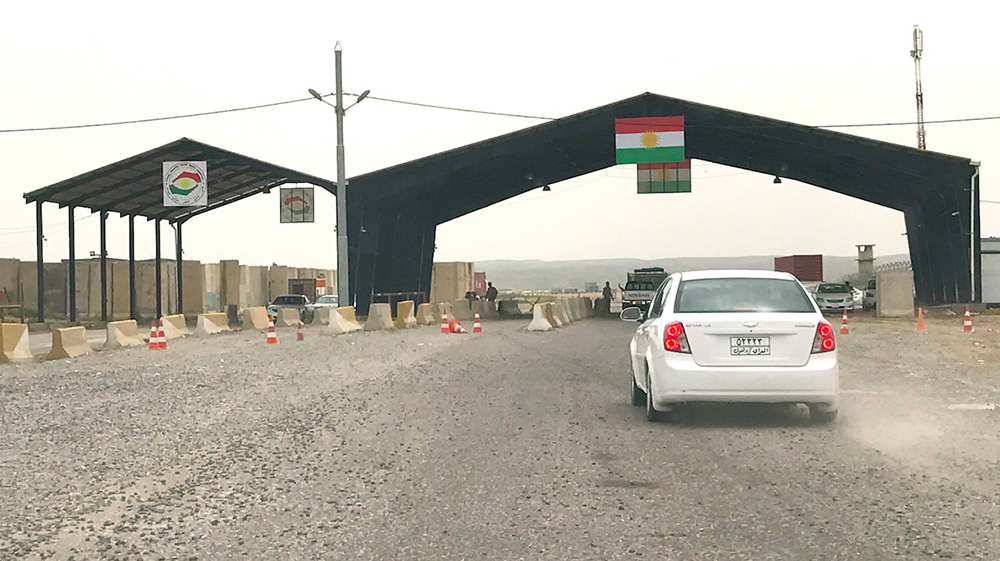 A checkpoint on the way to Mosul, manned by the Kurdish forces.