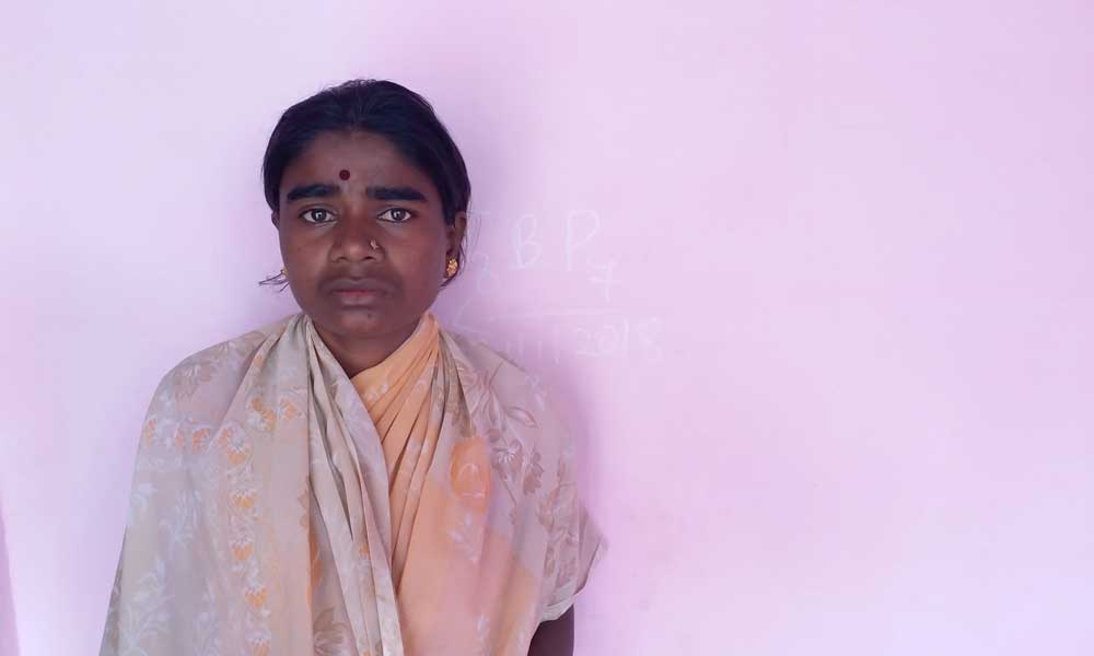 Lakshmi's husband Manjunath was killed by his own sister over a property dispute. Photo: Sruthisagar Yamunan