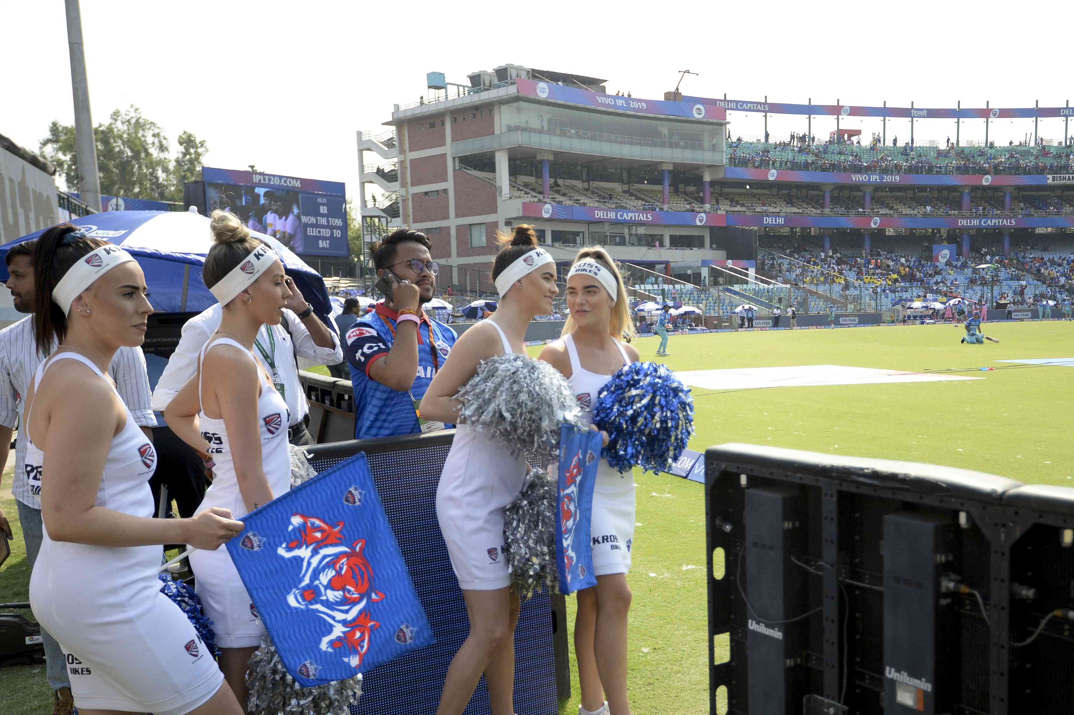 Delhi Capitals cheerleaders during a match (AFP)