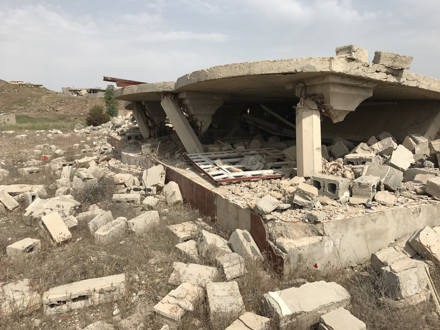 A demolished house in Hassan Sham village.