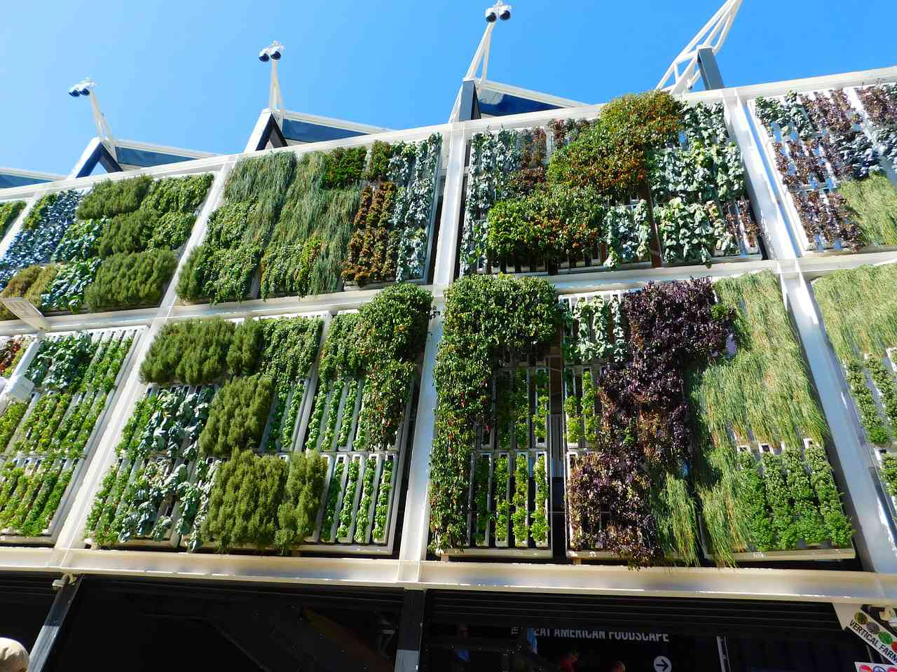 Vertical farm at the Milan Expo. Source: Pixabay