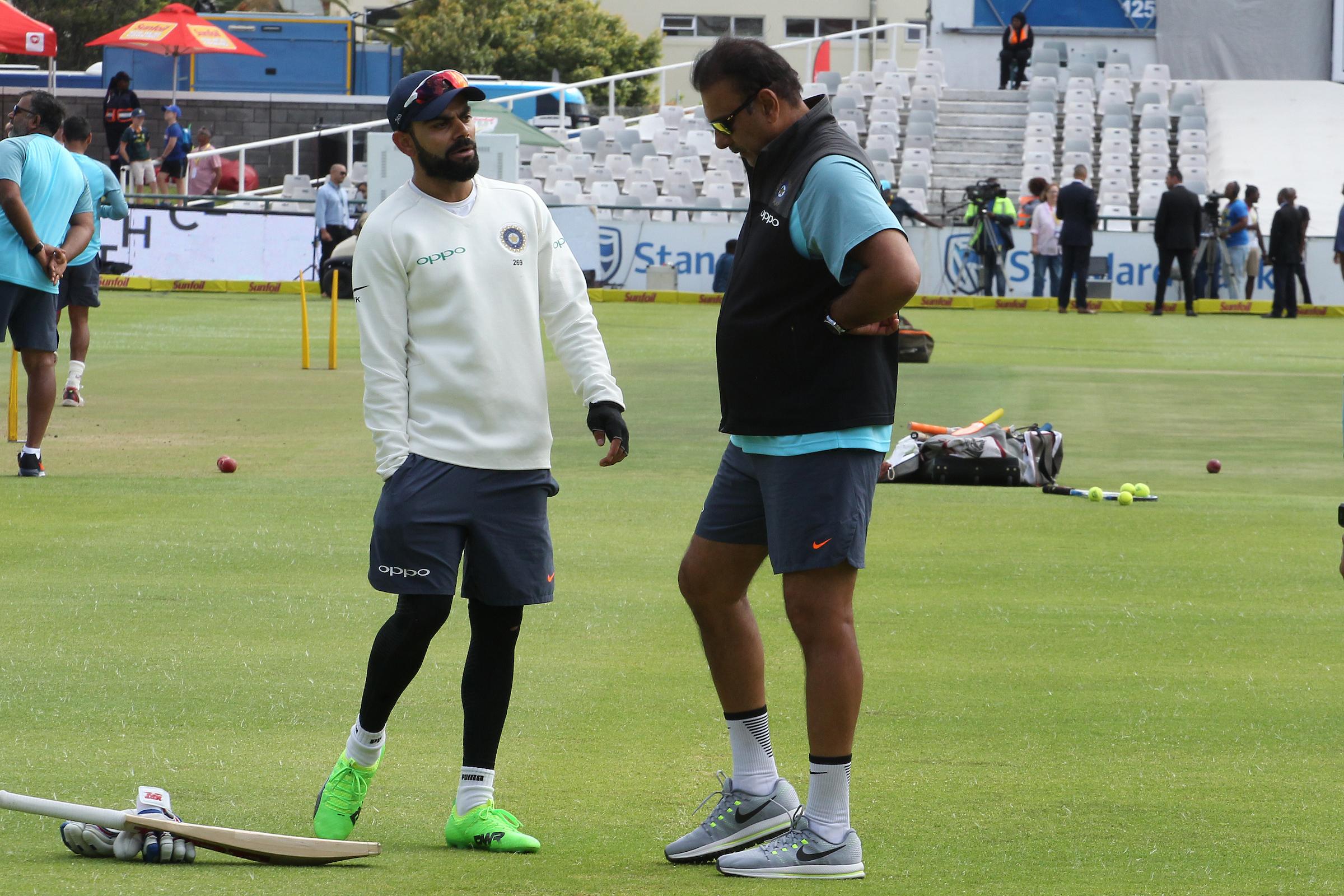 Head coach Ravi Shastri has been keeping a close eye on Virat Kohli so far on this tour (Image: BCCI/Sportzpics)