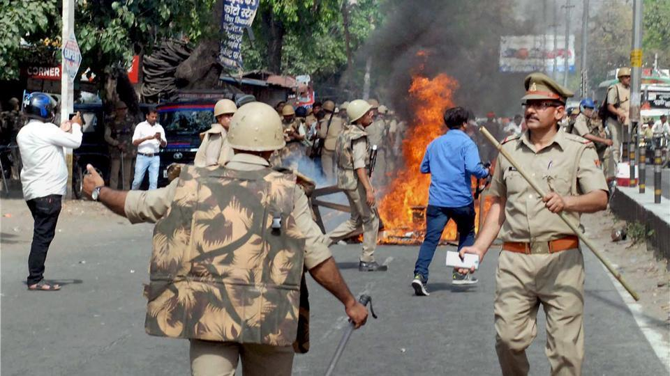 Earlier this week, clashes erupted between Dalits and Thakurs in Saharanpur, UP. (Photo credit: PTI).