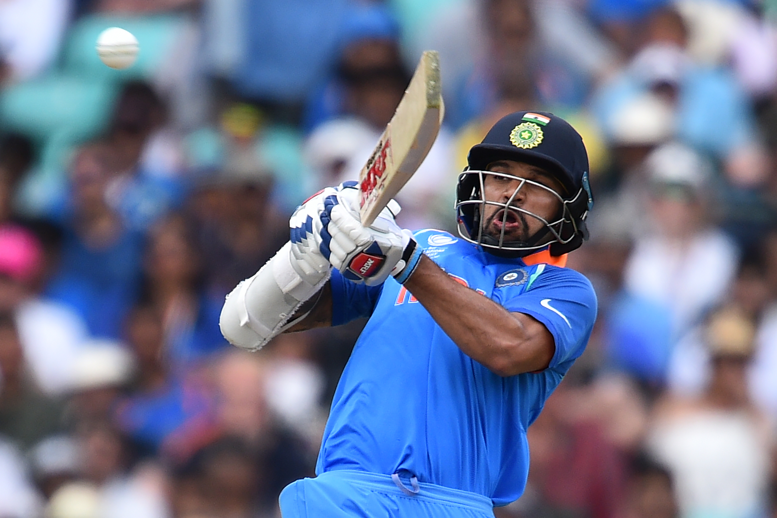 Shikhar Dhawan had scored a century in India's previous game against Sri Lanka. Photo: AFP