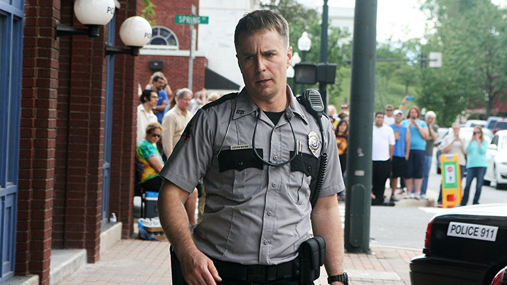 Sam Rockwell in Three Billboards Outside Ebbing, Missouri. Image credit: Fox Searchlight.