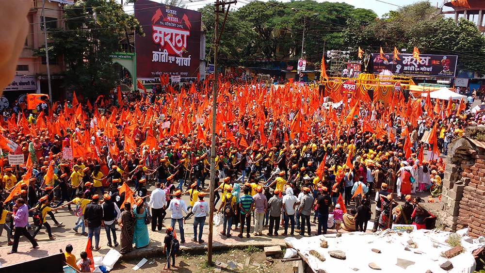 People gather at the central Dasara Chowk. Photo credit: Mridula Chari