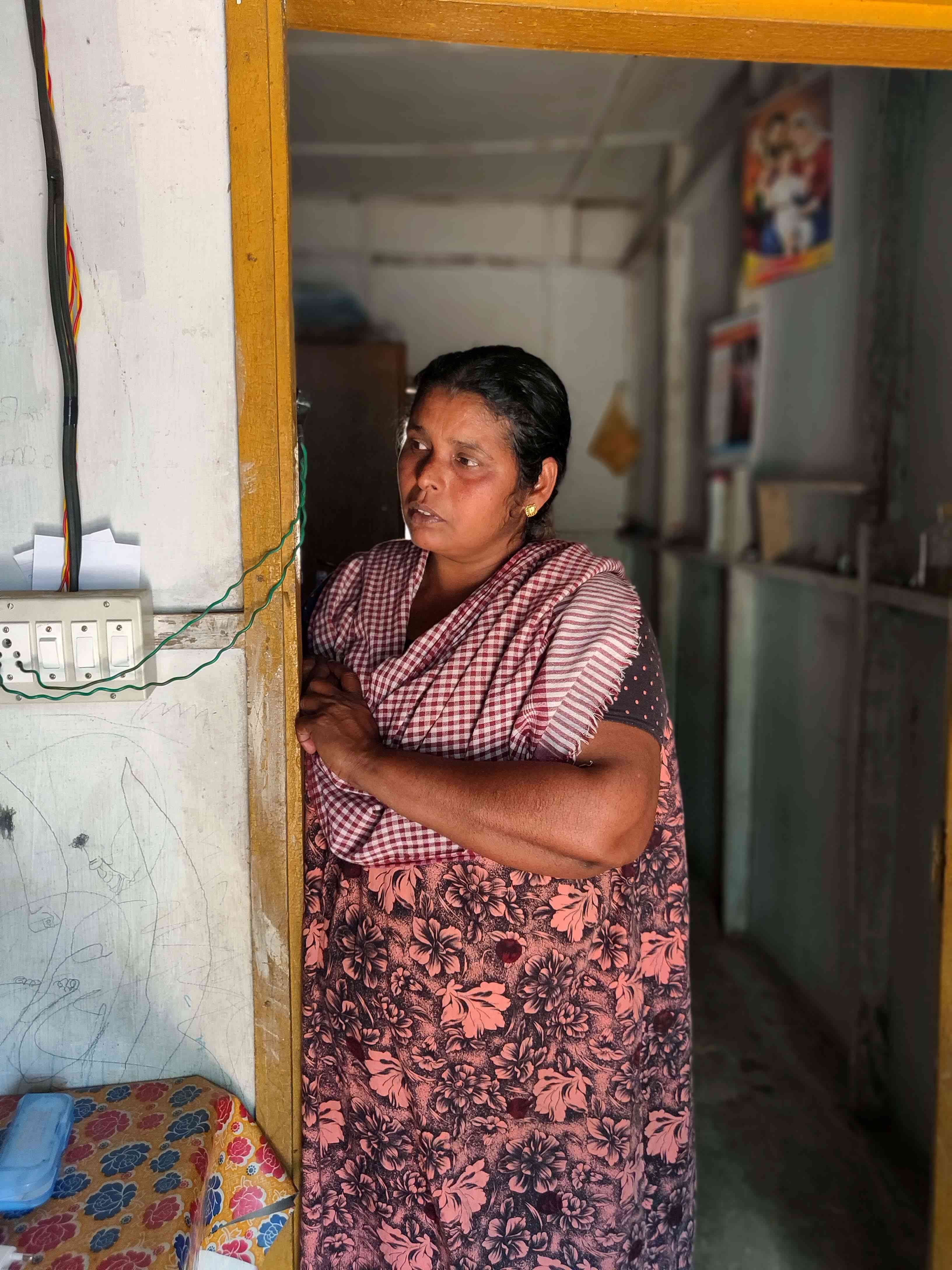 Alice still lives in a relief camp in Idukki. Photo credit: TA Ameerudheen