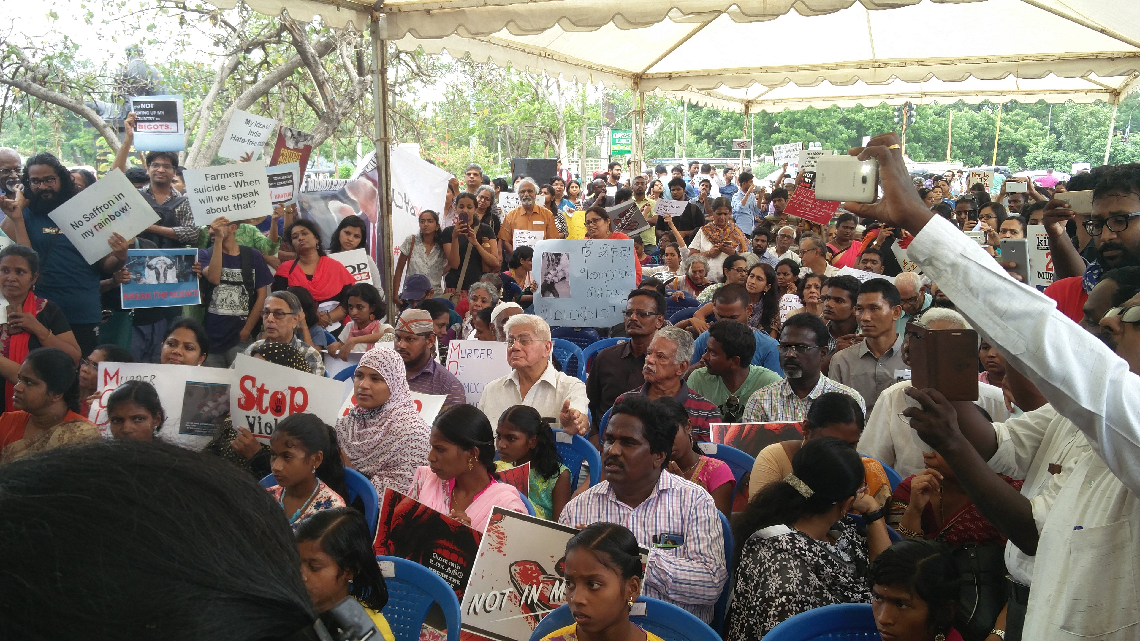 People in Chennai unite against incidents of violence across the country [Credit: Vinita Govindarajan]