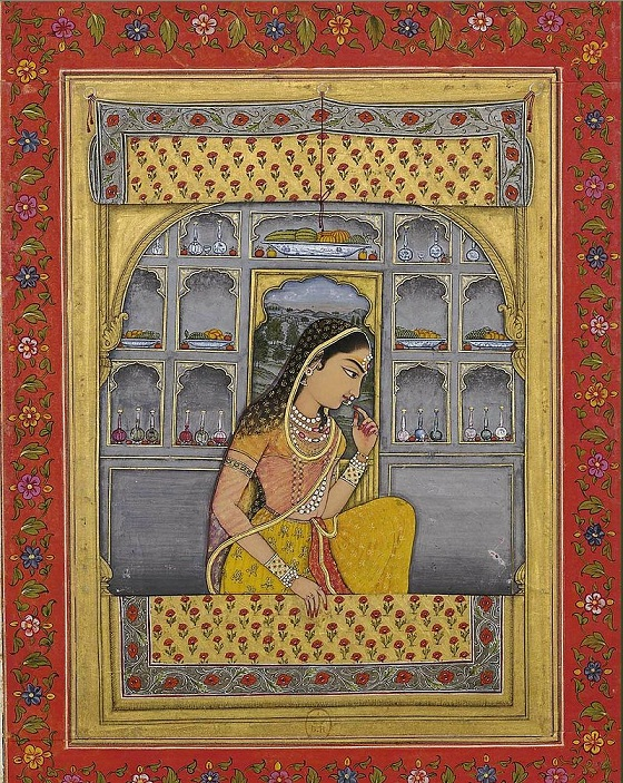 Princess Padmavati, circa 1765, Bibliothèque nationale de France, Paris. Courtesy Wikimedia Commons.