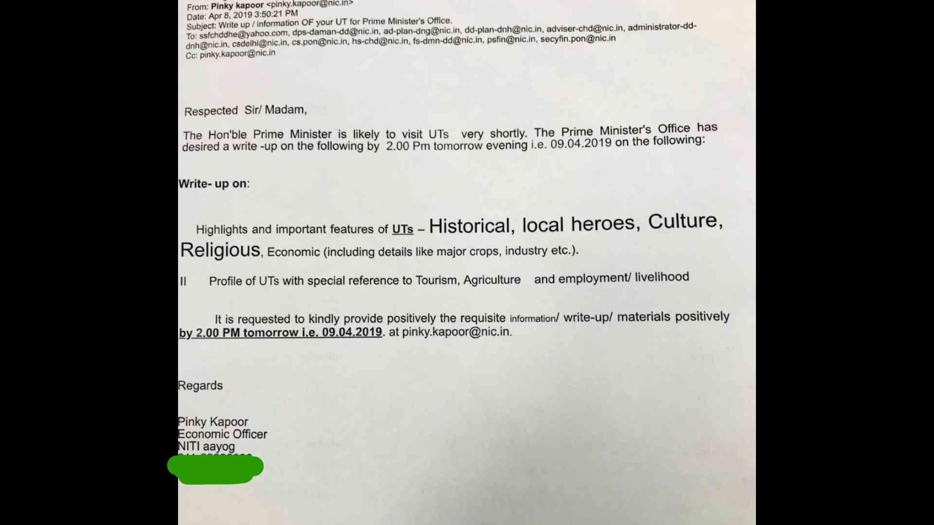 Write Letter To Pmo Udupi PM Modi responds to students letter ...